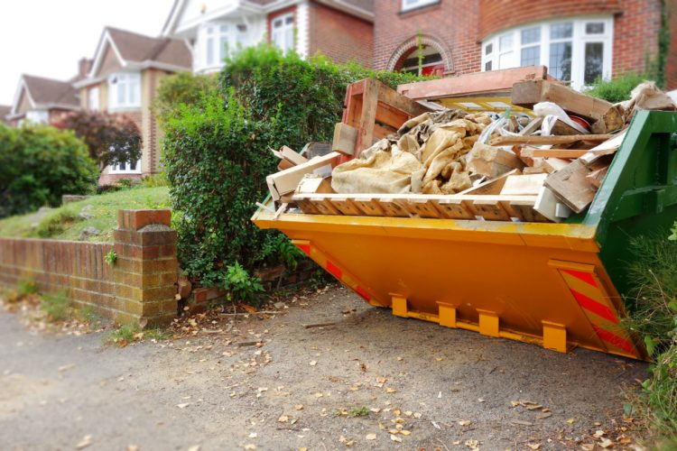 how to fill a skip
